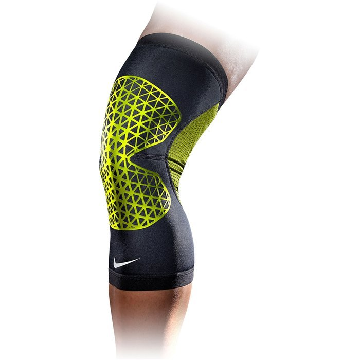Nike PRO COMBAT KNEE SLEEVE XL BLACKVOLT. Фото N3