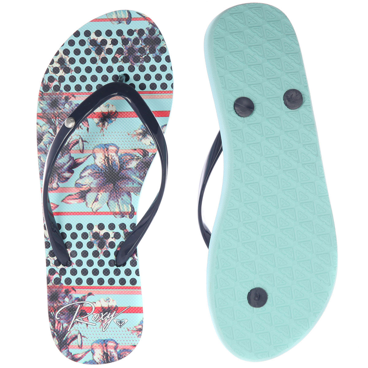 Сланцы женские ROXY Portofino light blue. Фото N2