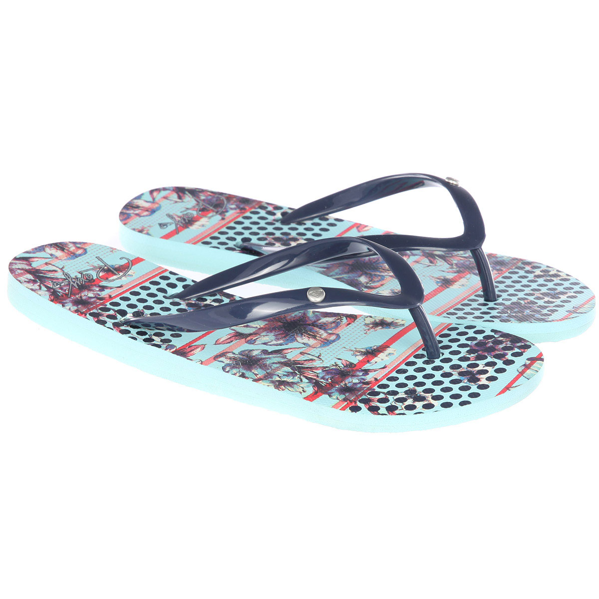 Сланцы женские ROXY Portofino light blue. Фото N3