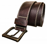 РЕМНИ STITCHED BELT BROWN