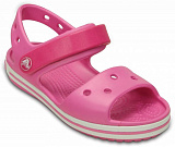 Сандалии детские Crocs Crocband Sandal Pink and White