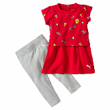 Костюм Puma SF Inf Girls Dress Set Rosso Corsa
